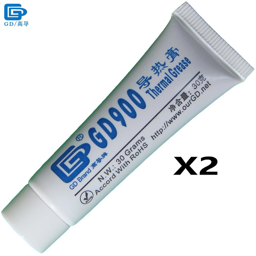 GD Brand Thermal Conductive Grease Paste Silicone GD900 Heat Sink Compound 2 Pieces High Performance Net Weight 30 Grams ST30 gd900 thermal conductive grease paste silicone plaster heat sink compound 5 pieces high performance gray net weight 3 grams sy3