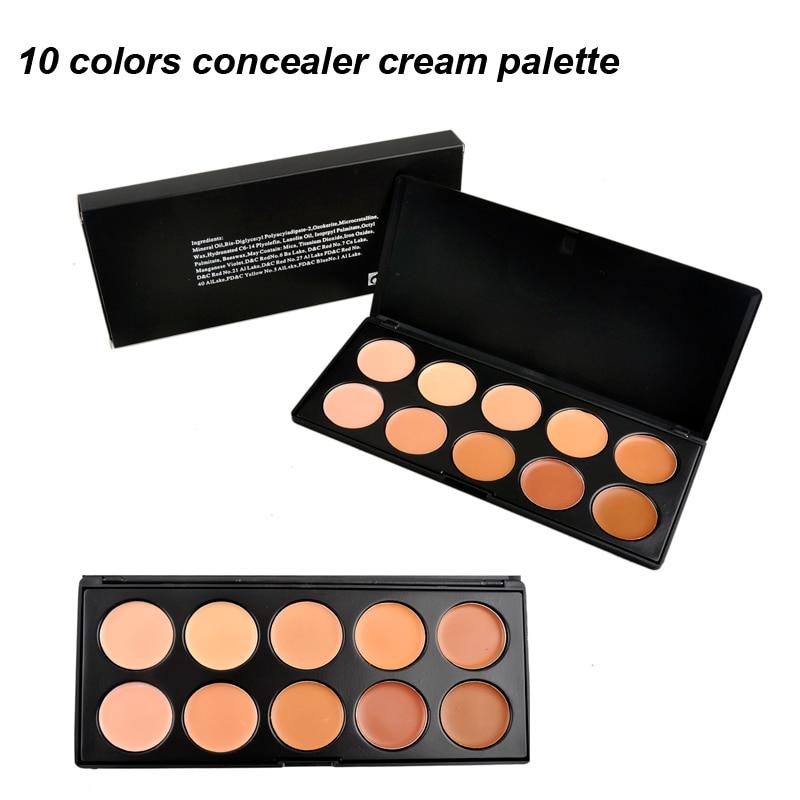 10 Colors Concealer Face Primer Cream Contour Blusher Palette Makeup Powder Facial Contouring Corrector Base Palette