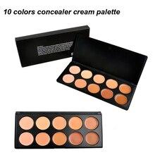 10 Colors Concealer Face Primer Cream Contour Blusher Palette Makeup Powder Facial Contouring Corrector Base Palette Foundation