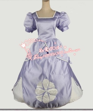Sofia the First Princess Cosplay costume dress for women kids