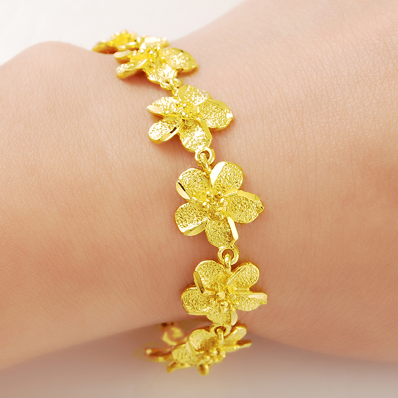 Men Jewelry Whole Gold Color Flowers Chain 12mm Bracelet 925 Silver Fashion In Link Bracelets From Accessories On