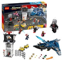 Decool 7123 Marvel's Captain America 3 Civil War Giant Ant Man airport for Avengers blocks for lego set 76051 for minifigure
