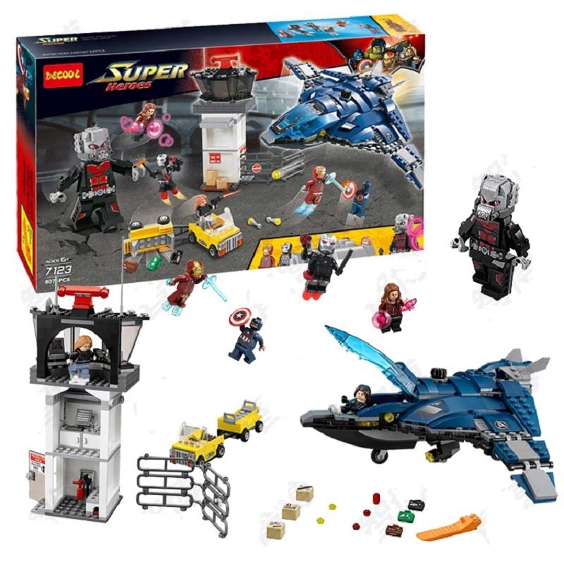 Decool 7123 Marvels Captain America 3 Civil War Giant Ant Man airport for Avengers brick ...