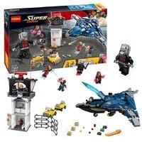 Decool 7123 Marvel's Captain America 3 Civil War Giant Ant Man airport for Avengers blocks for lego set 76051 for minifigure