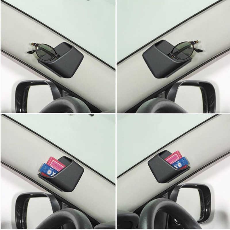 1 çift siyah evrensel araba oto aksesuarları gözlük organizatör saklama kutusu tutucu