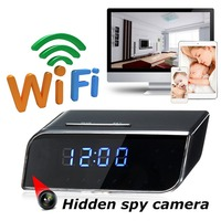 1080P HD Mini Wireless DVR Alarm Clock Shape Camera Motion Detection Video Recorder Cam Phone Monitoring
