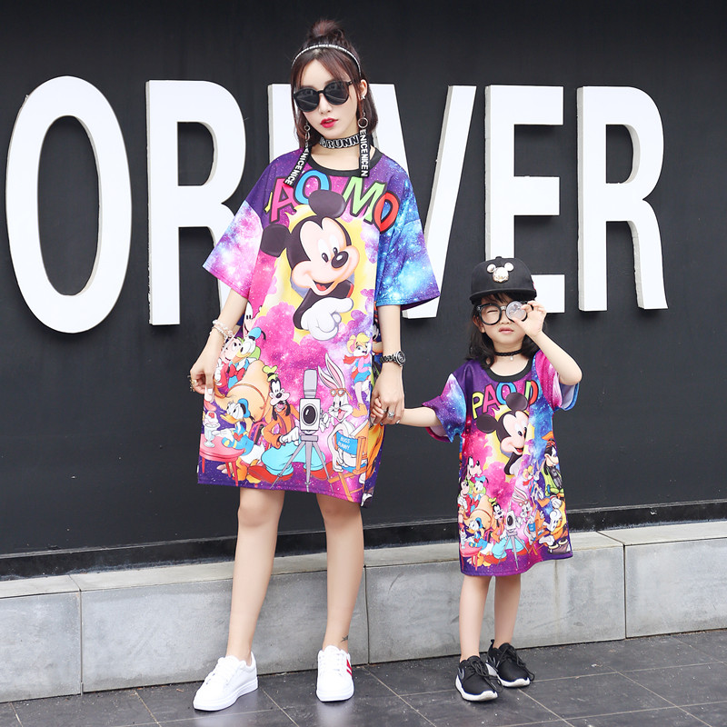 466747a611 Mother Daughter Dresses for Family Tshirt Set Christmas Pajamas Mother    Kids Clothes Mom and Daughter Dress Family Clothing-in Matching Family  Outfits from ...