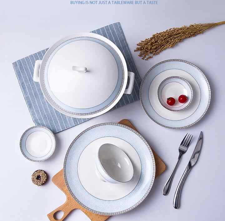 Керамический столовый сервиз Посуда тарелки чаши и кружки наборы для ухода за кожей