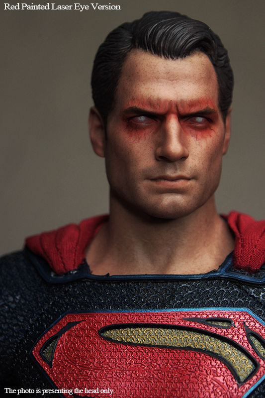 1:6 Scale BVS Superman 2.0 Red Eye Head Sculpt Headplay Angry Version For 12 Male Figure Body
