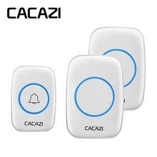 CACAZI AC 100-240V wireless doorbell waterproof 300M range door bell low price h