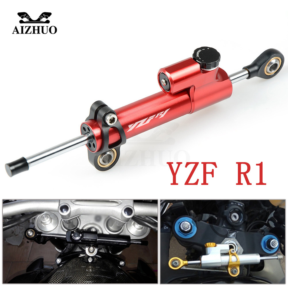 For YAMAHA YZF R1 1999 2001 2002-2003 Motorcycle Damper Steering Stabilize Safety Control CNC Aluminum WIth YZF R1 LOGO for yamaha yzf r6 1999 2004 yzf r1 2002 2003 fz1 fazer 2001 2005 motorcycle stabilizer damper complete steering mounting bracket