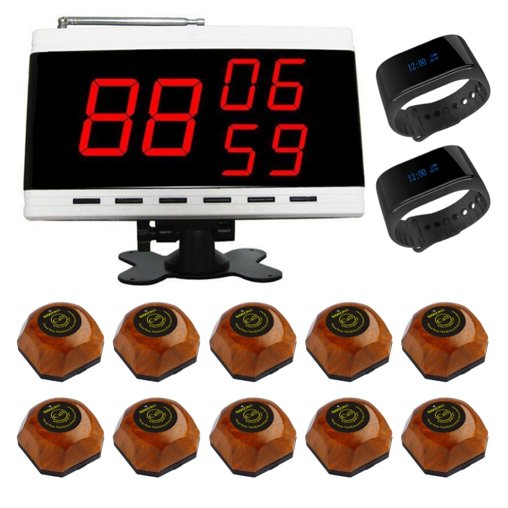 SINGCALL queue management system customer service 1 digital receiver 2 watch pagers 10 wood call bells free shipping neca the terminator 2 action figure t 1000 galleria mall figure toy 718cm mvfg037