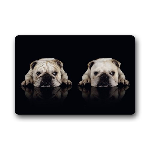 Yard & Garden Decor Objective Bulldog Teddy Dog Animal Print Mat Anti-slip Doormat Coral Fleece Entrance Carpets Rugs Decorative Stair Living Room Bedroom Excellent In Cushion Effect