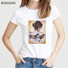 9509235c60 Verano de 2019 nueva estética T camisa las mujeres sexy chica bonita  Impresión de camiseta femme