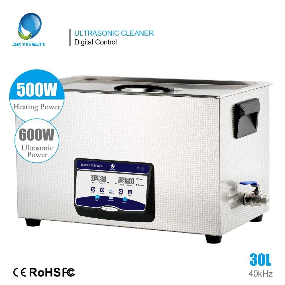 Skymen ultra-sônico cleaner 30l controle de toque digital banho ultasonic 110/220 v 600w tanque de aço inoxidável aparelhos de limpeza