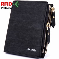 RFID Theft Protec Coin Bag Zipper Men Wallets Famous Brand Mens Wallet Male Money Purses Wallets