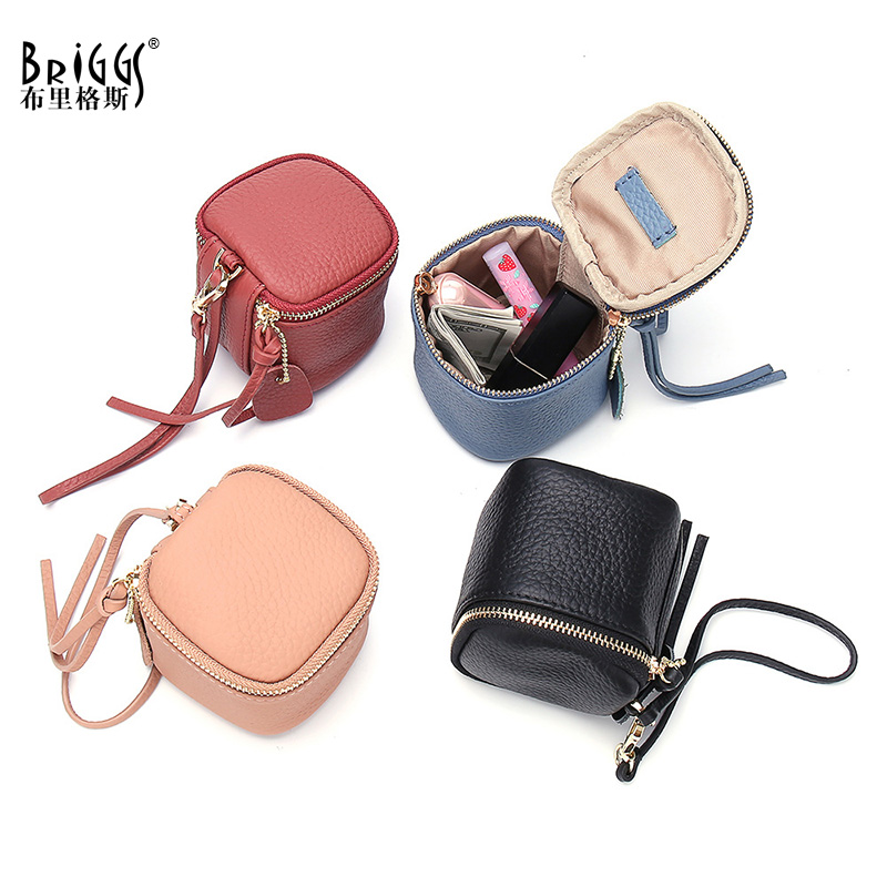 Top Quality Square Women Coin Purses Holders Wallet Female Genuine Cow Leather Money Wallets Hot Fashion Small Clutch Bag