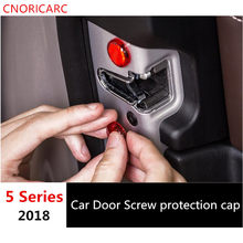 CNORICARC 1 комплект ABS Защитная крышка для автомобильной двери с винтом Водонепроницаемая Крышка для BMW 5 серии 528 530 540 G38 2018