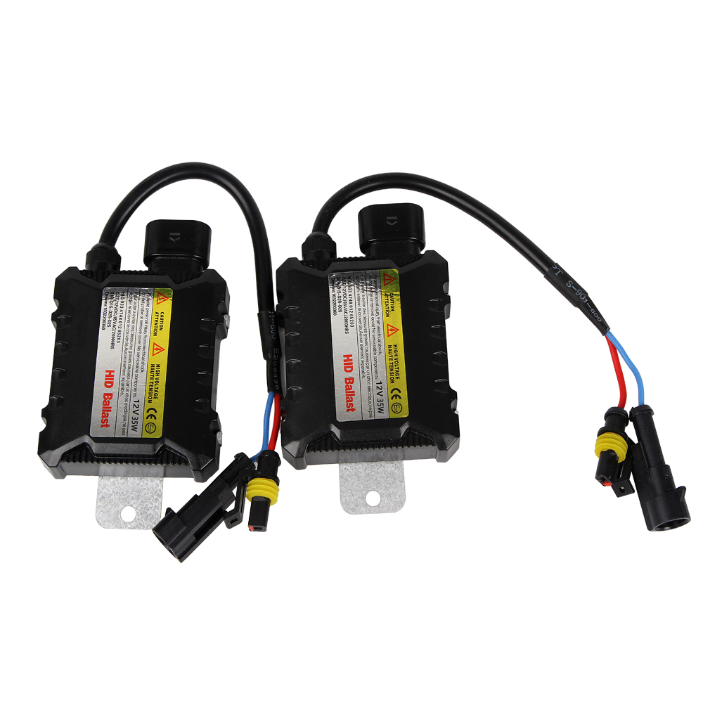 1 Pair 35W Xenon HID Ballast Ignitor Car-styling HID Replacement Car Headlight DC 12V Digital Slim Ballast universal slim replacement 35w car hid ballast dc 9 16v
