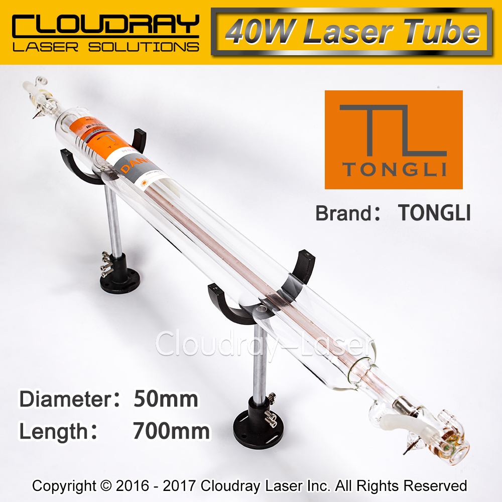 Tongli 700MM 40W Co2 Laser Tube Glass Pipe for CO2 Laser Engraving Cutting Machine TL TLC700-50 850 50 co2 laser glass tube 40w for co2 laser engraving machine