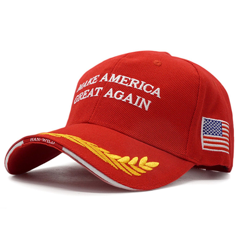 New High Quality 2020 Donald Trump Hat Make America Great Again USA Flag Embroidery Letter Baseball Caps for Men Women Wholesale