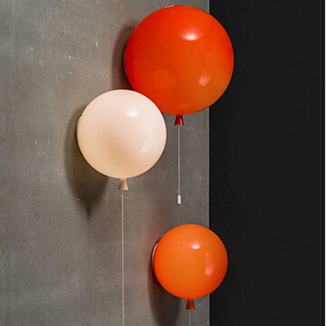 wit rood geel creatieve mooie balloom led plafondlamp voor kids