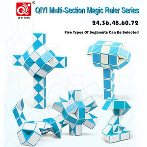 Image 2 - QIYI 48 Segments Magic Rule Snake Cube Elasticity Elastic changed Popular Twist Transformable Kid Puzzle Toy for Children
