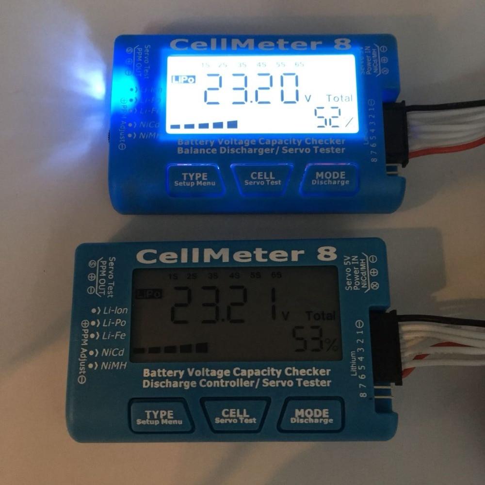 CellMeter8 AOK 8S Digital Battery Voltage Capacity Balance Servo Checker Tester