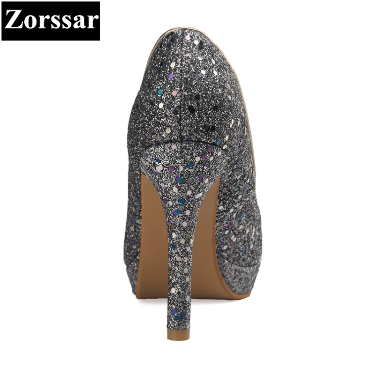 Hand Heels Pumps {zorssar} Damen High Bling Luxus Hei Mode Party Gr Plateau Hochzeit Pu e Schuhe Damen 11CM Leder qpSzUVM