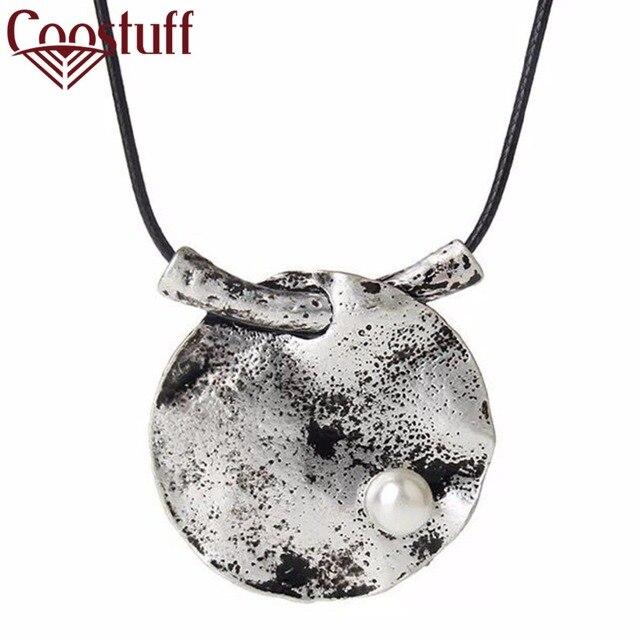 Beautiful Lotus leaf necklaces & pendants Vintage Long Necklaces for women 2017
