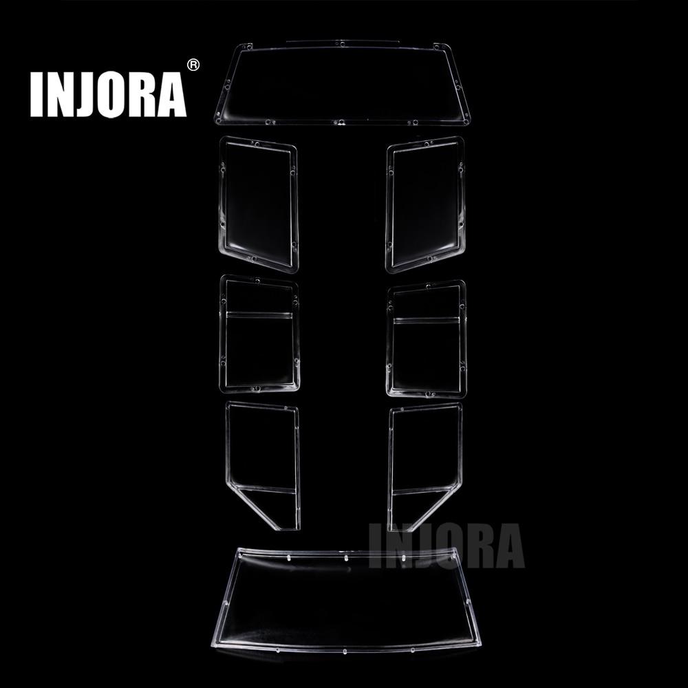 INJORA Car Windows For 1/10 RC Crawler 313mm Wheelbase Hard Body Shell