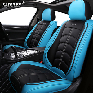 Image 3 - Kadulee Luxe Lederen Auto Seat Cover Voor Honda Accord 7 8 9 10 2002 2018 Civic 5d Cr  V Crv Fit Jazz Stad UR V Auto Accessoires