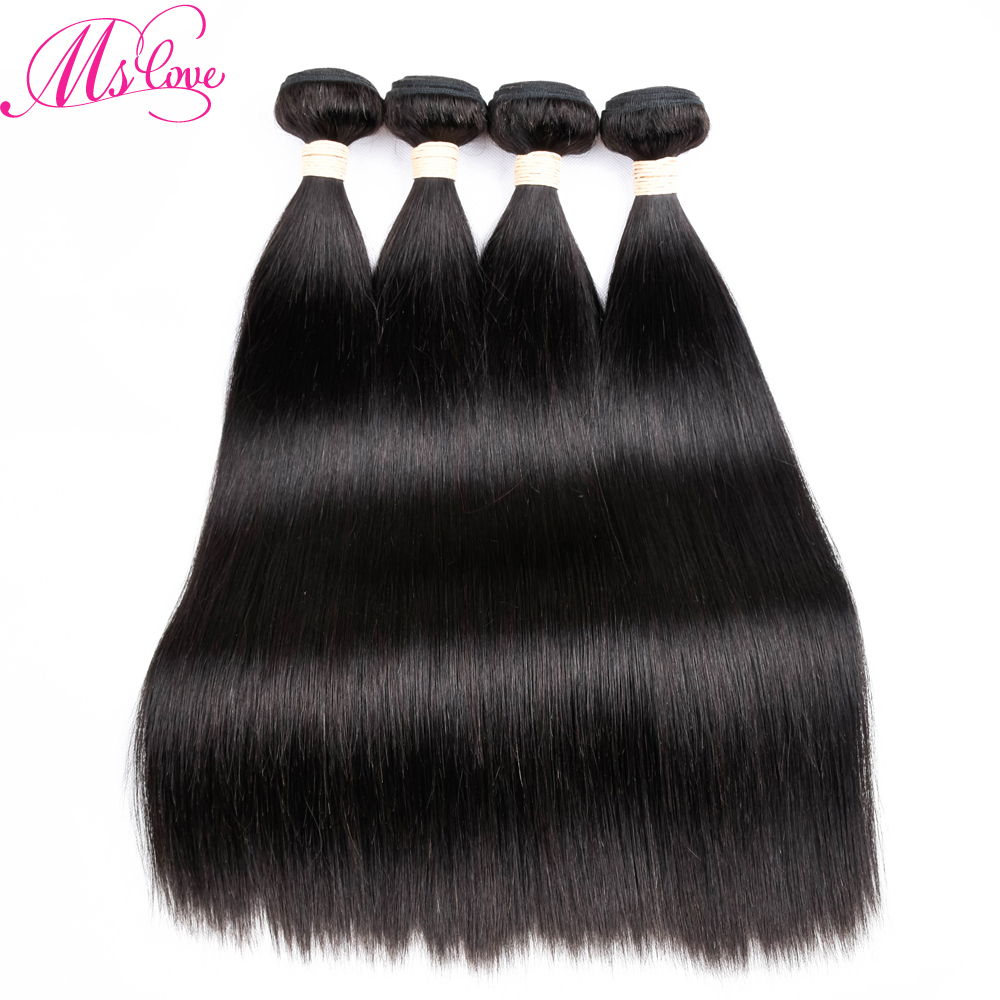 Malaysian Straight Hair 4 Bundles Deal 10 to 28 Inch Non Remy Straight Hair Weave Extension Double Weft Human Hair Bundles