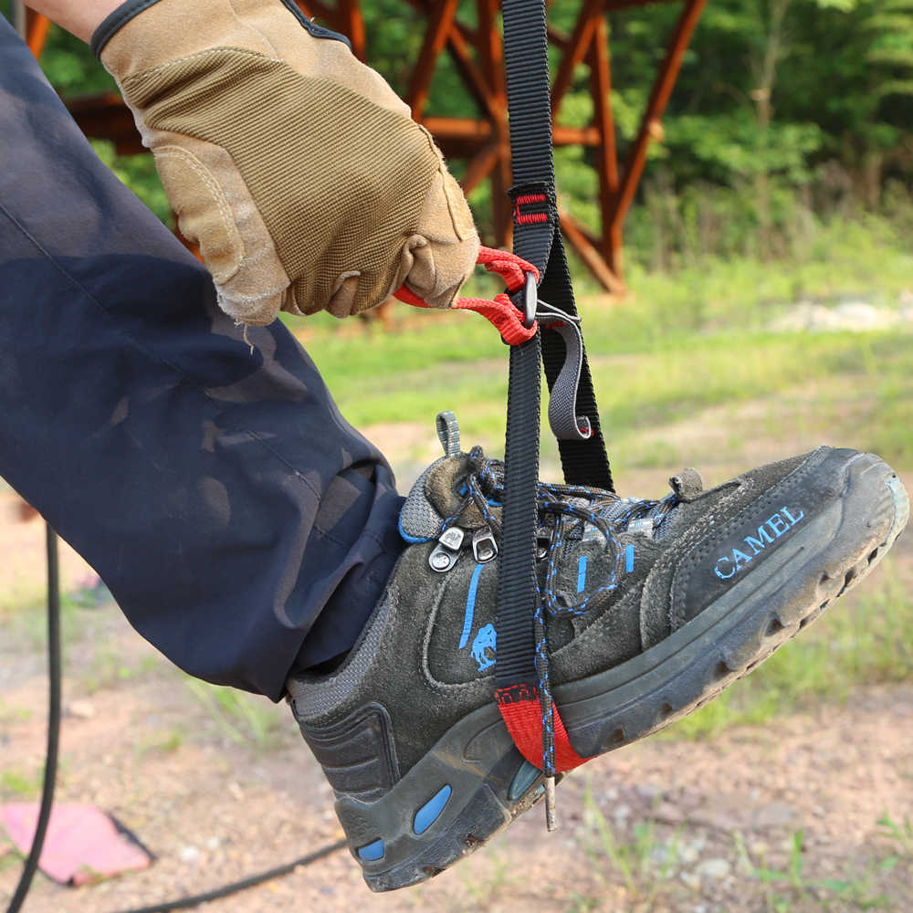 MagiDeal Adjustable Climbing Ascender Sling Foot Loop Ascender Webbing Sling Outdoor Mountaineering Rock Climbing Caving Rescue Aerial Work