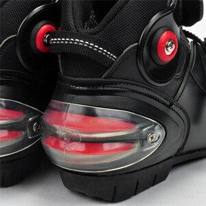 Image 2 - Moto รีไซเคิลข้อเท้าบูทความเร็วนักขี่จักรยานหนัง Race Riding Street Moto รองเท้า Moto RBIKE Touring Chopper เกียร์ป้องกันรองเท้า