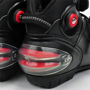 Image 2 - Motorcycle Ankle Racing boots speed BIKERS leather race riding street moto boots Motorbike Touring Chopper protective gear Shoes