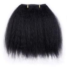 Amir kinky pacotes de cabelo reto para mulheres africanas 10 polegada cabelo sintético curto tecer tramas de cabelo preto 1 peça