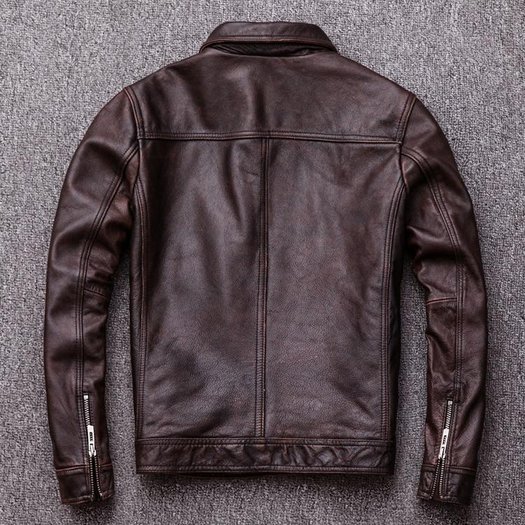HTB1ZsSdFQSWBuNjSszdq6zeSpXaN MAPLESTEED Brand Vintage Leather Jacket Men 100% Cowhide Red Brown Black Natural Leather Jackets Men's Leather Coat Autumn M174
