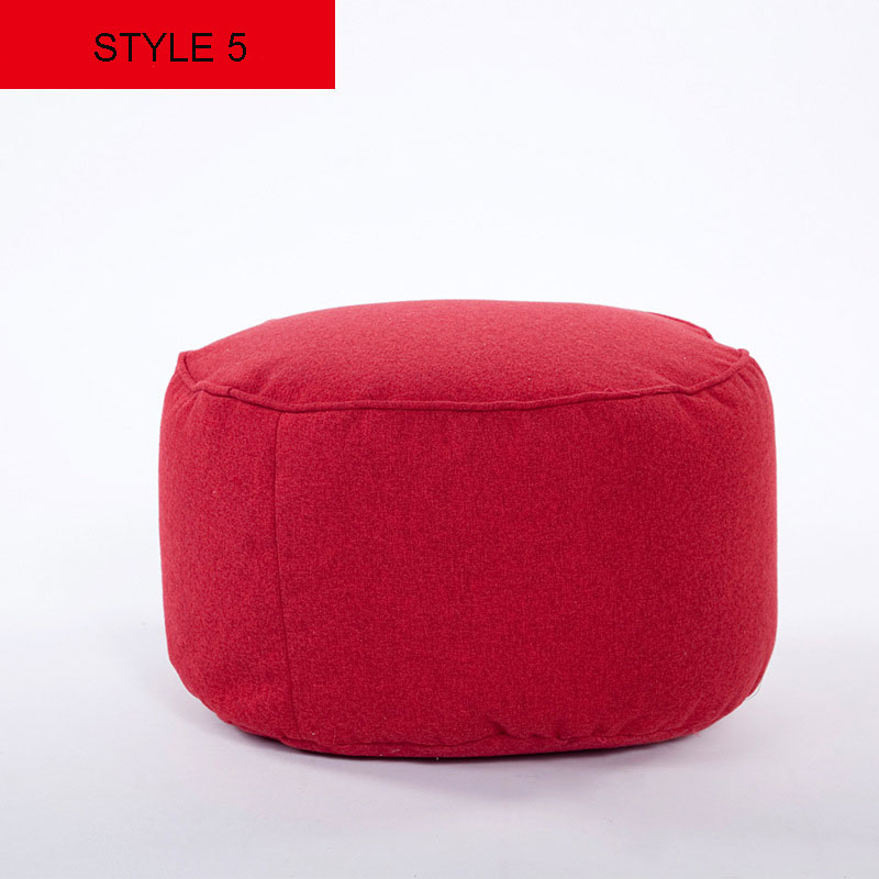 Pure Colors Living Room Furniture Footstool For Fashion Linen Fabric Round Bean Bag Chair Floor 4525cm In Stools Ottomans From