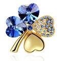 Grosso Bijuteria Cristal de Swarovski Moda Broches Vintage Para As Mulheres 11179