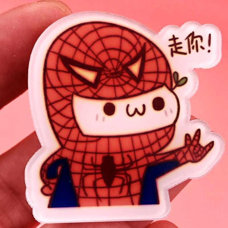 1PCS Del gatto Del Cane Spider man Pikachu Acrilico Spilla Distintivi E Simboli Spille Vestiti Zaino Decorazione Spille Anime Icone del mestiere