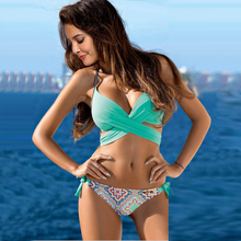 Vertvie Women Swimsuits Halter Bandage Beach Bathing Suits Sexy Beachwear Bikini Push Up 2019 Women Swimsuits Swimwear Female