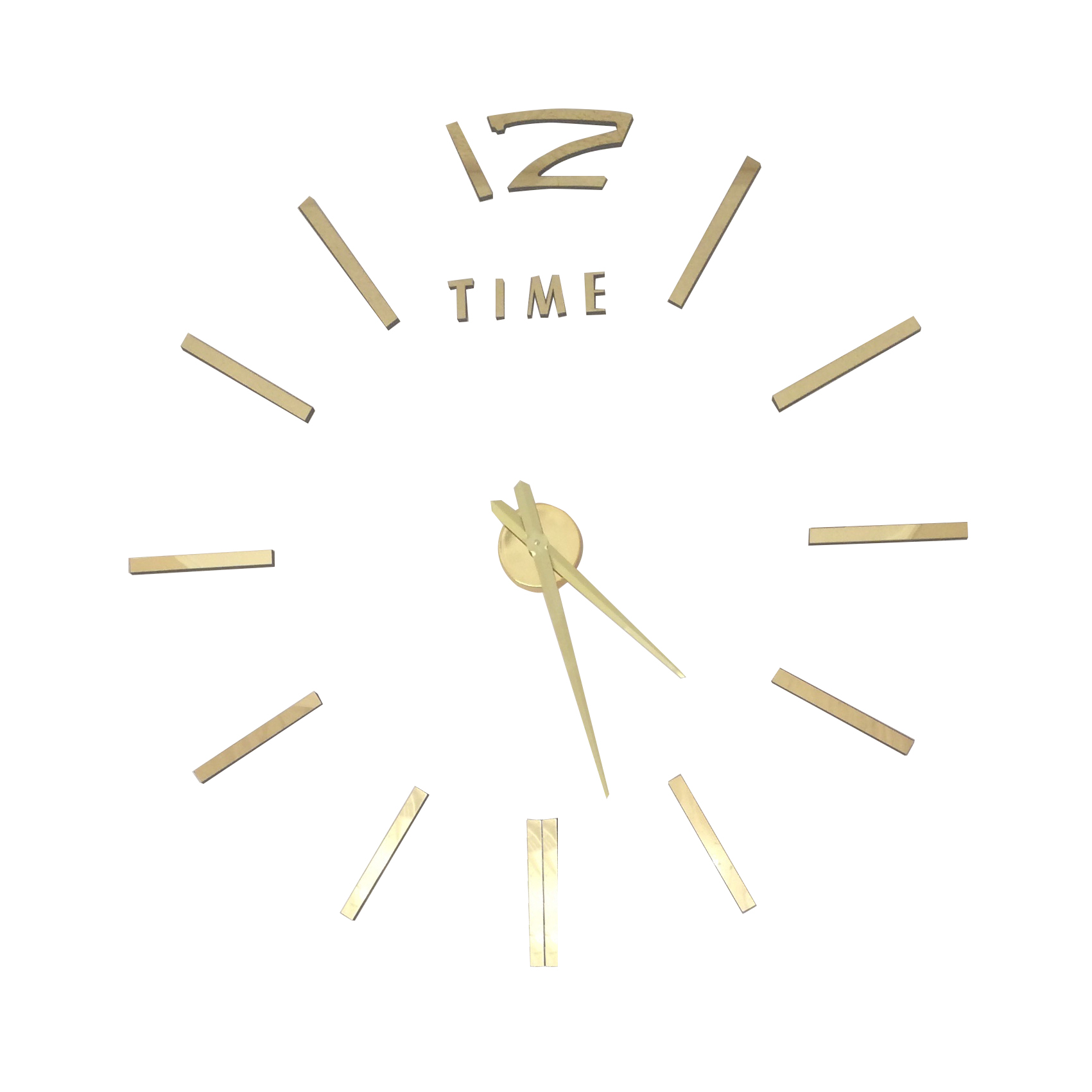 Diy 3d wall clock szs hot luxury large diy 3d wall clock home decor bell cool amipublicfo Choice Image