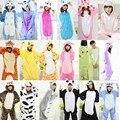 Adult Women Animal <font><b>Pajamas</b></font> Flannel <font><b>Pajama</b></font> <font><b>Sets</b></font> Pijama Cartoon Cosplay Warm Sleepwear Homewear Unicorn Stitch Panda Zebra Pikachu