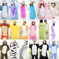 Adult Women Animal   Pajamas   Flannel   Pajama     Sets   Pijama Cartoon Cosplay Warm Sleepwear Homewear Unicorn Stitch Panda Zebra Pikachu