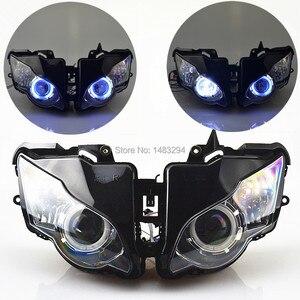 Image 1 - Özel montajlı projektör far mavi ve beyaz melek göz HID Honda için uygun CBR1000RR CBR1000 RR 2008 2011 08 09 10 11