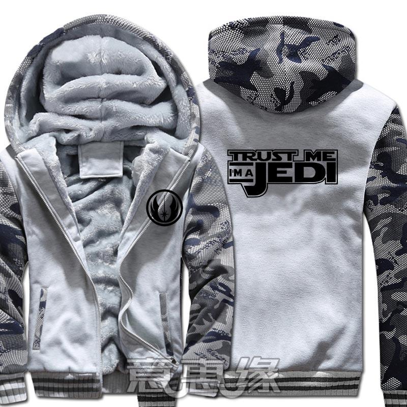 Nouveau Star Wars 8 à capuche Anime manteau veste hiver hommes épais Zipper sweat - 5