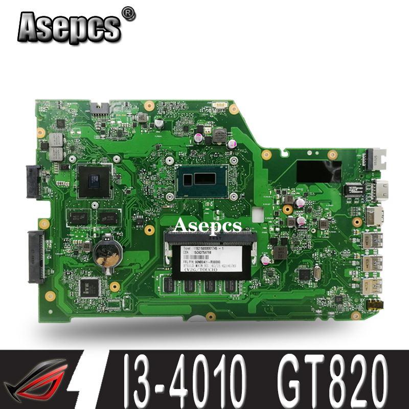Asepcs X751LD Motherboard REV: 2.0 I3-4010 GT820 DDR3 Para ASUS R752L X751L X751LN Laptop motherboard Mainboard X751LD X751LD