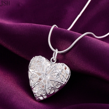 Wholesale Free shipping elegant fashion wedding silver color jewelry charm women noble heart pendant necklace ,P185 1