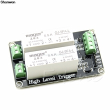 Cheap price 2 Channel SSR Solid State Relay High-low trigger 5A 5v12v For Arduino Uno R3